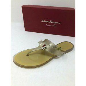 New Salvatore Ferragamo Gold Sandals Size 7 8 9